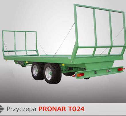 PRONAR Przyczepa  MODEL T024 13t