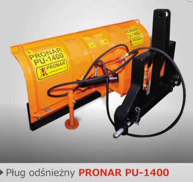 PRONAR Pług odśnieżny MODEL PU-1400