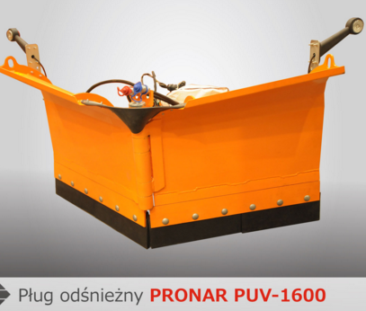 PRONAR Pługi odśnieżne MODEL PUV-1400 i MODEL PUV-1600