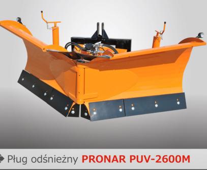 PRONAR Pługi odśnieżne MODEL PUV-2600M PUV-2800M PUV-3000M PUV-3300M
