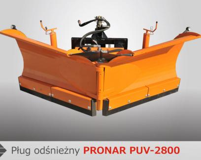 Pługi odśnieżne PRONAR PUV-2600 i PUV-2800