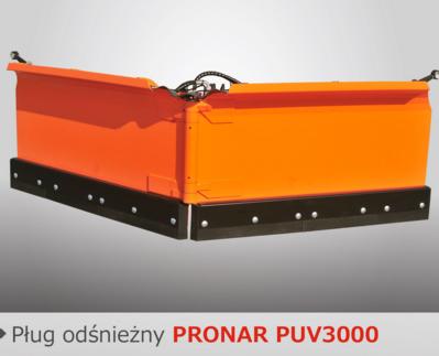 PRONAR Pługi odśnieżne MODEL PUV-3000 i PUV-3300