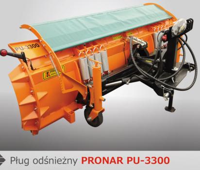 PRONAR Pługi odśnieżne MODEL PU-2600 i PU-3300