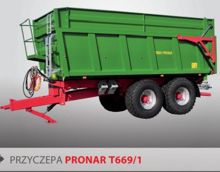 PRONAR Przyczepa  MODEL T669/1 wywrót 2-stronny 20t