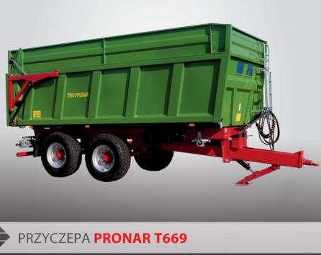 PRONAR Przyczepa  MODEL T669 21t