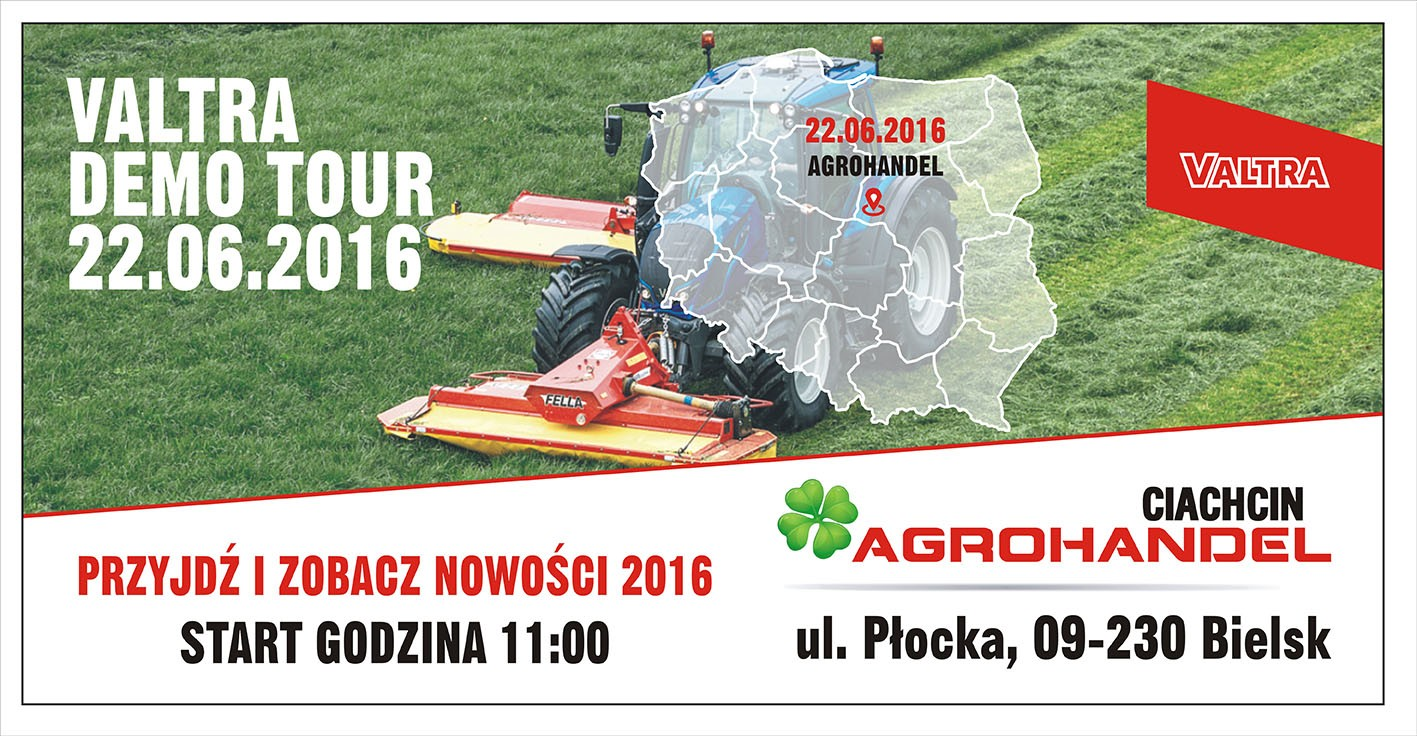 VALTRA DEMO TOUR 22.06.2016 START 11.00