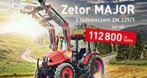 ZETOR MAJOR Z ŁADOWACZEM ZA 112.800ZL