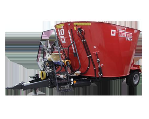 METAL-FACH Wóz paszowy jednowirnikowy z obniżoną podłogą T659 BEL-MIX – poj. 6, 8, 10 i 12 m3