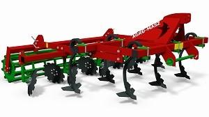 AGRO-MASZ Agregat podorywkowy z zabezpieczeniem kółkowym MODEL AP21, AP26, AP30 Szerokość 2,1-3,0m